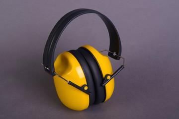 Yellow ear muffs