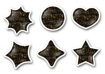 Buttons / Herz, Stern, Kreis