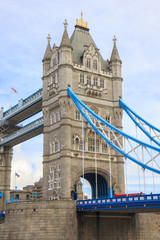 Tower Bridge from the South Bank. London. England