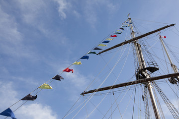 tall ship mast and crows nest