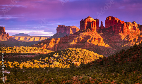 Poster Arizona Cathedral Rock sunset