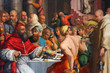 Постер, плакат: giorgio vasari dinner of st gregory