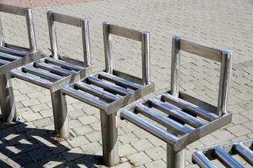 Öffentliche Sitze aus Edelstahl