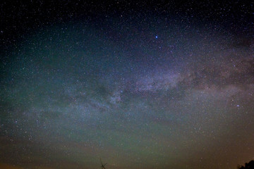 Milky Way Galaxy on nigh sky