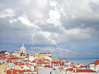 Lisboa em dia de tempestade