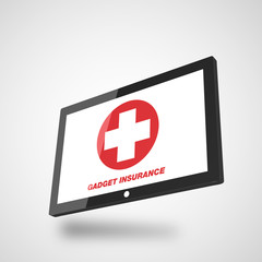 nsurance illustration with tablet computer