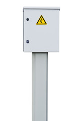 Power distribution wiring switchboard panel outdoor unit, grey