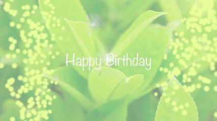 Happy Birthday - grün