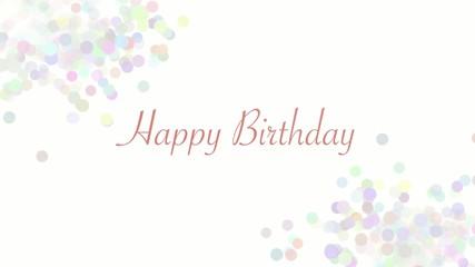 Happy Birthday - bunt