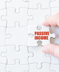Puzzle piece with words  PASSIVE INCOME