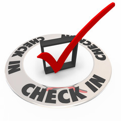Check In Box Mark Ring Verify Confirmation Reservation