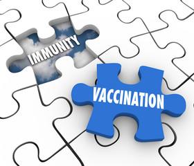 Vaccination Immunity Puzzle Piece Fill Hole Vaccinate Prevent Di
