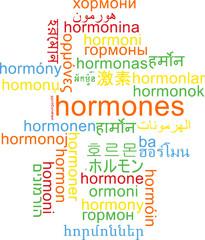 Hormones multilanguage wordcloud background concept