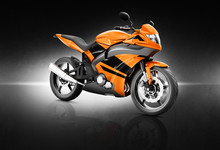 Motorcycle Motorbike Bike Riding Rider Contemporary Orange