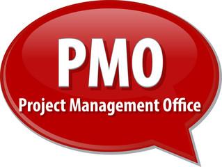 PMO acronym word speech bubble illustration
