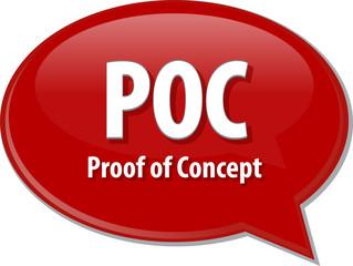 POC acronym word speech bubble illustration