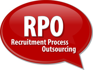 RPO acronym word speech bubble illustration
