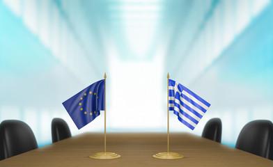 European Union and Greece economic trade deal talks