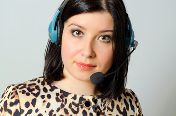 Girl in headset.