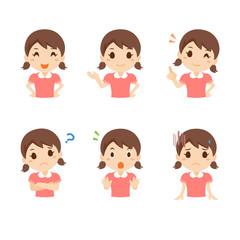 女の子 幼児 表情 ポーズ