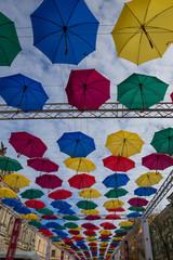 Street soaring umbrellas, St-Peterburg, Russia