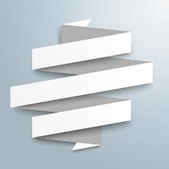 Weißes Papierband