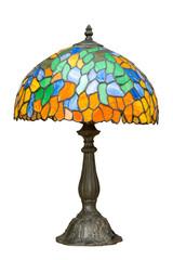 Multi color glass lamp.