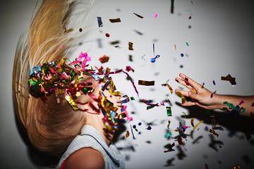 Dancing in confetti