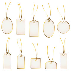 hangtag collection white and gold