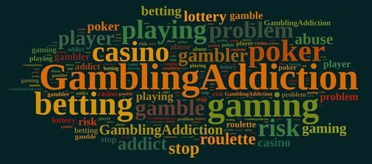 Gambling addiction.