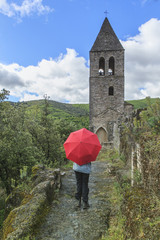 parapluie rouge,