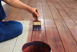 hand painting oil color on wood floor use for home decorated ,ho