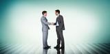 Composite image of businessmen shaking hands
