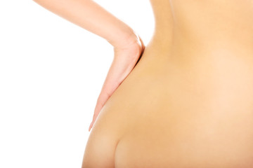 Beautiful naked woman's ass.