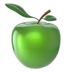 Green apple fruit nutrition antioxidant fresh ripe healthy icon