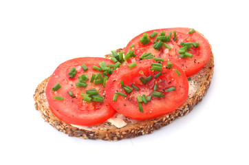 Wholesome Bread with Tomatoes and Chives