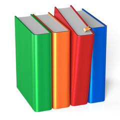 Books row four covers blank selecting red colorful textbook