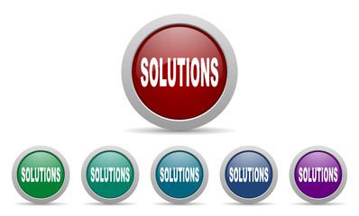solutions vector web icon set