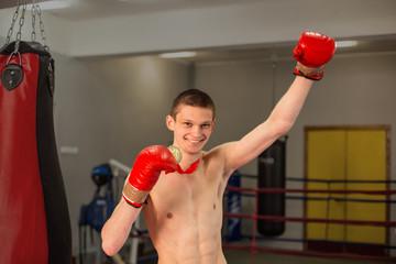 Boxer holds medal