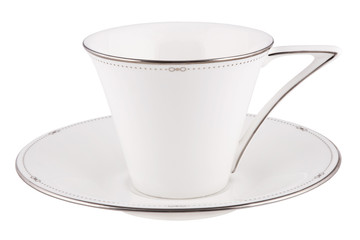 Coffee or tea cup isolated on white.