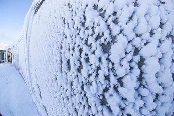 Frosty wall