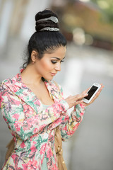 woman talking cell phone
