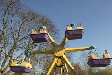 Carousel for children in the city park, Ukraine