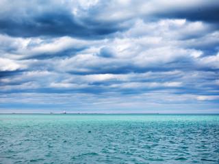 view of lake michigan near chicago illinois