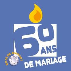 ANNIVERSAIRE de mariage - 60ans