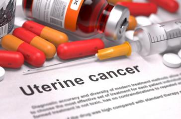 Uterine Cancer Diagnosis. Medical Concept.