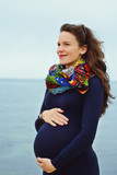 pregnant woman in spring