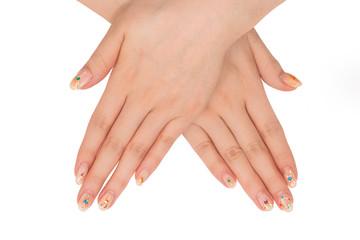 ネイルアート アジア人の手 Hand of the nail art Asian