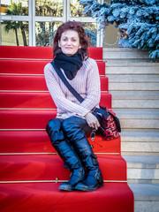 Starlette devant le Palais des Festivals de Cannes