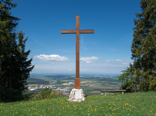 Kreuz auf dem Plettenberg in der Schwäbischen Alb